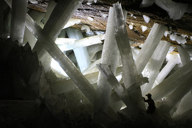 Gypsum crystal formation