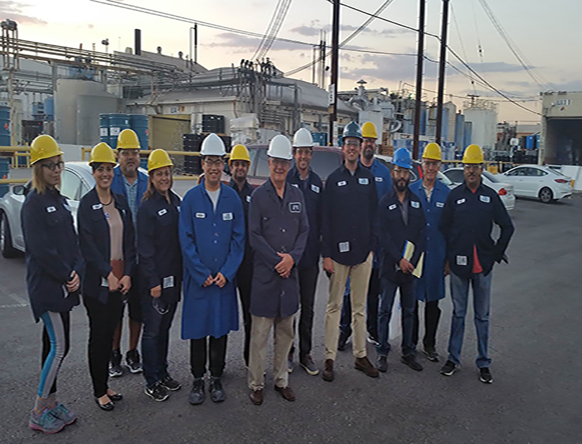 Class on factory tour