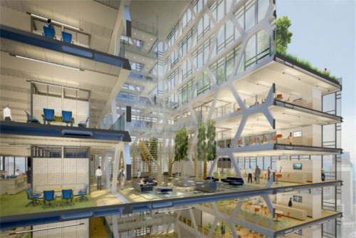 The office of the future will provide an array of flexible workspaces.