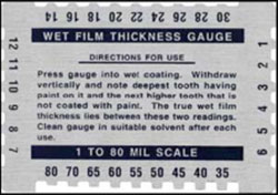 Wet Film Thickness Gage