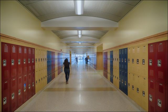 De Anza hallway