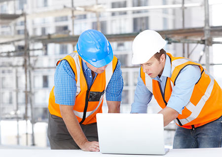 workers using technology