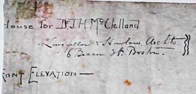 Longfellow, Alden & Harlow Sunnyledge elevation identification