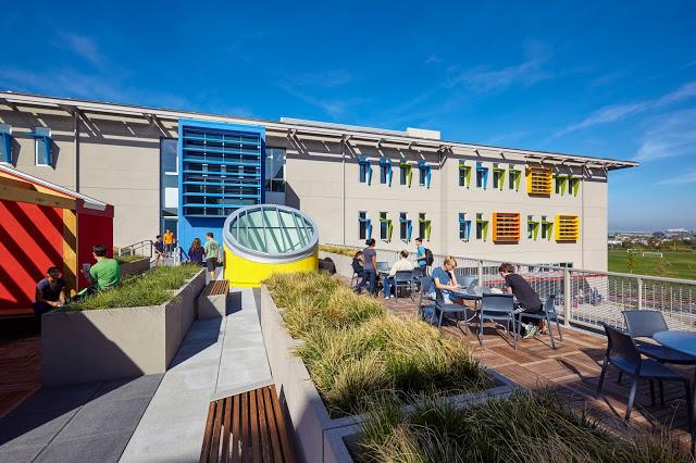 Nueva School courtyard