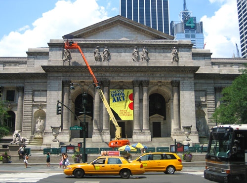 New York Public Library before