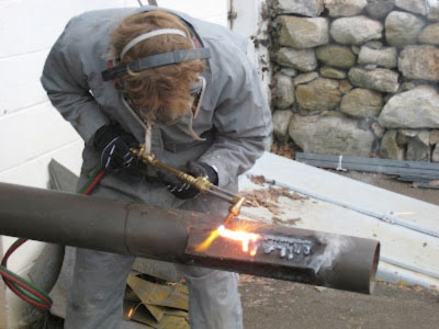 Flame cutting on steel painted with lead could be banned, without considering how to protect the torch cutters or the possibility of removing the paint before cutting.