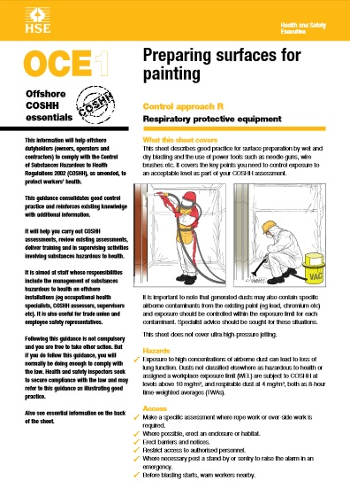 Offshore painting guide