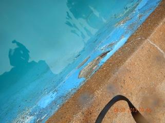 Underwater repair on tank