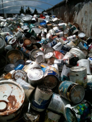 ePaint Recycling founder Jim Cosby is looking for any possible use for leftover paint.