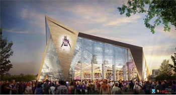 New Vikings Stadium Rendering