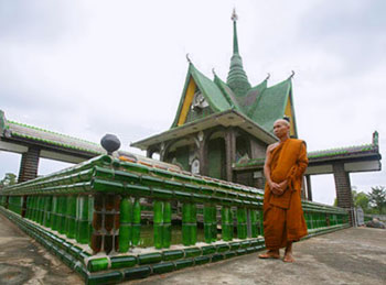 """Temple of a Million Bottles,"" Wat Lan Kuad in Thailand."