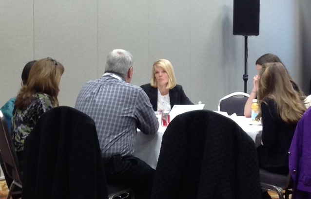 Cindy O'Malley leading roundtable