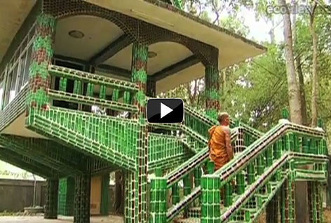 """Temple of a Million Bottles,"" Wat Lan Kuad in Thailand video"