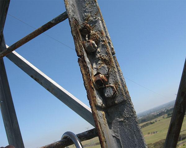 corroded ladder run