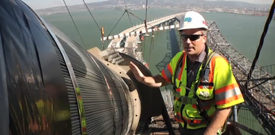 Bart Ney discusses corrosion prevention systems on the Bay Bridge.