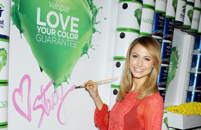 Stacy Keibler and Valspar