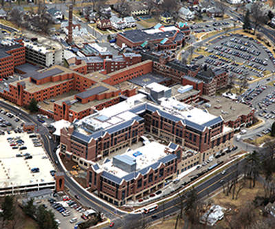 Baystate Medical Center aerial view