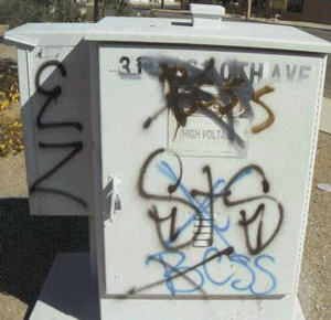 Graffiti Protective Coatings - power unit before