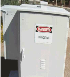 Graffiti Protective Coatings - power unit after