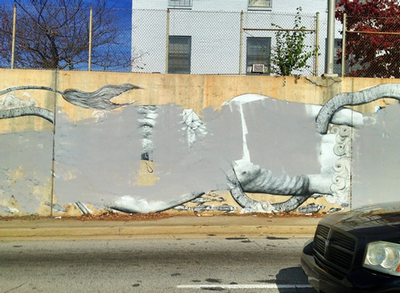 Public mural defaced in Atlanta