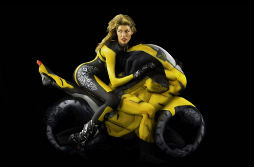 Human motorcycles - Finished image