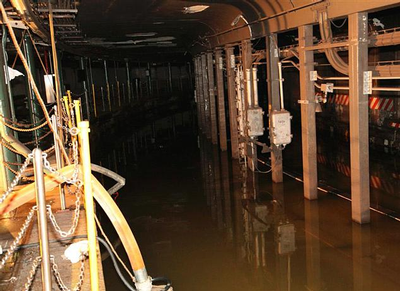 MTA subway after Sandy