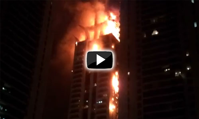 Tower fire in Dubai