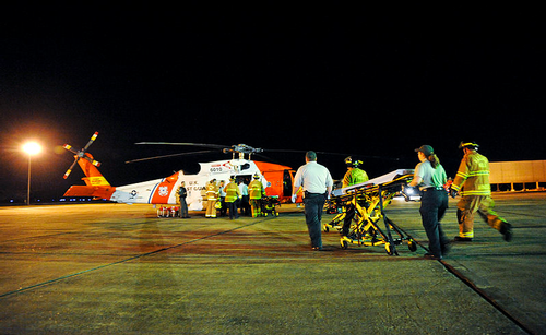 Deepwater Horizon medevac - US Coast Guard