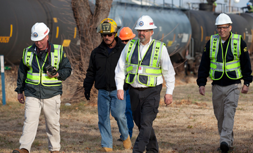 NTSB investigators at derailment in Paulsboro, NJ