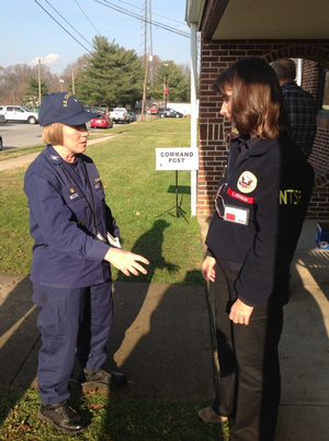 Coast Guard Capt. Kathy Moore and NTSB chairwoman Deborah A.P. Hersman