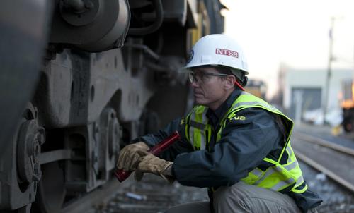 NTSB rail investigator Mike Hiller