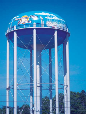 Panama City water tower