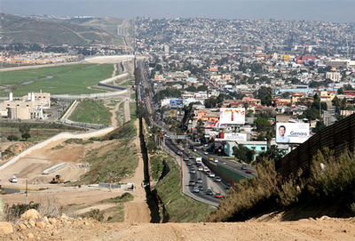 Mexico and US border