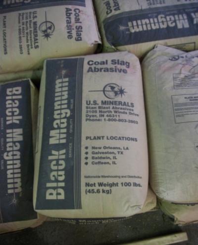 Black Magnum Coal Slag Abrasive
