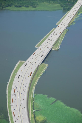 Lake Butte des Morts Causeway rendering