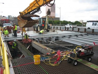 Morrison Bridge deck