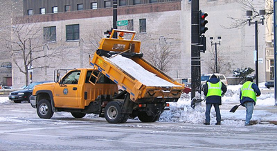 Milwaukee salt truck