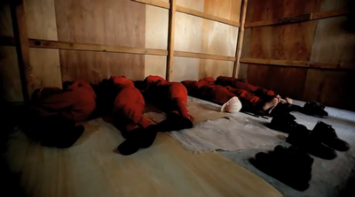 Workers sleeping on floor