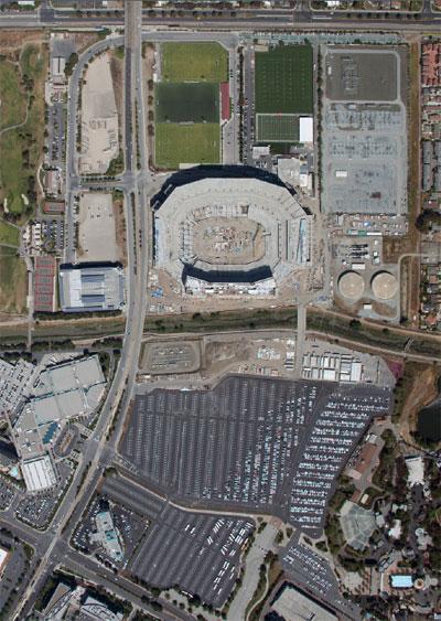 49ers Levi's Stadium aerial