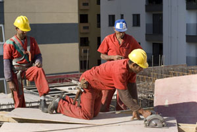 Latino construction workers