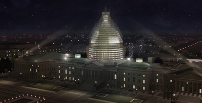 U.S. Capitol Building - scaffold rendering