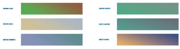 PrismFX color chart