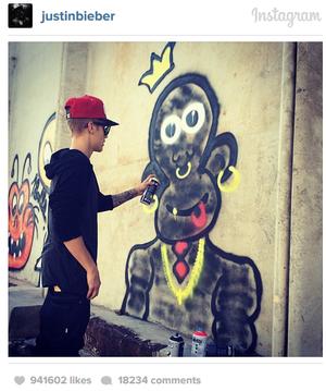 Bieber graffiti
