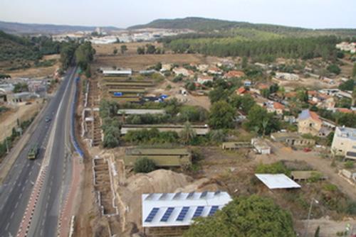 Eshtaol dig-aerial