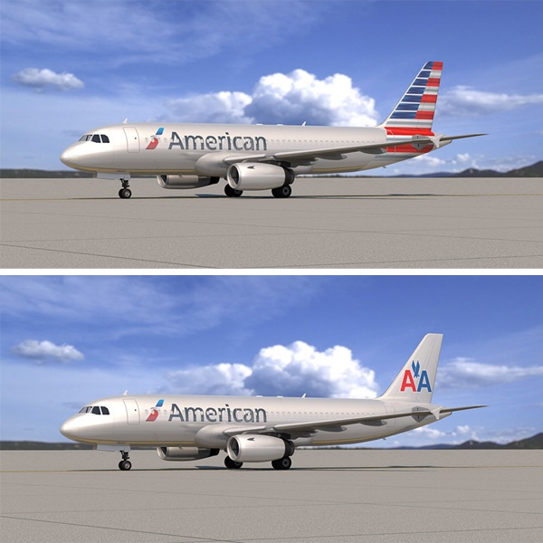 American Airlines paint