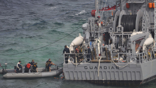 USS Guardian salvage operation