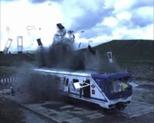Train blast test