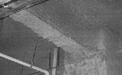asbestos on beam