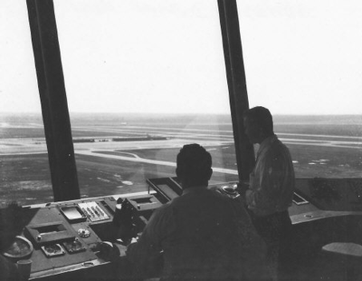 view from the tower 1961