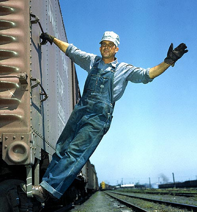 Union Pacific switchman - WWII